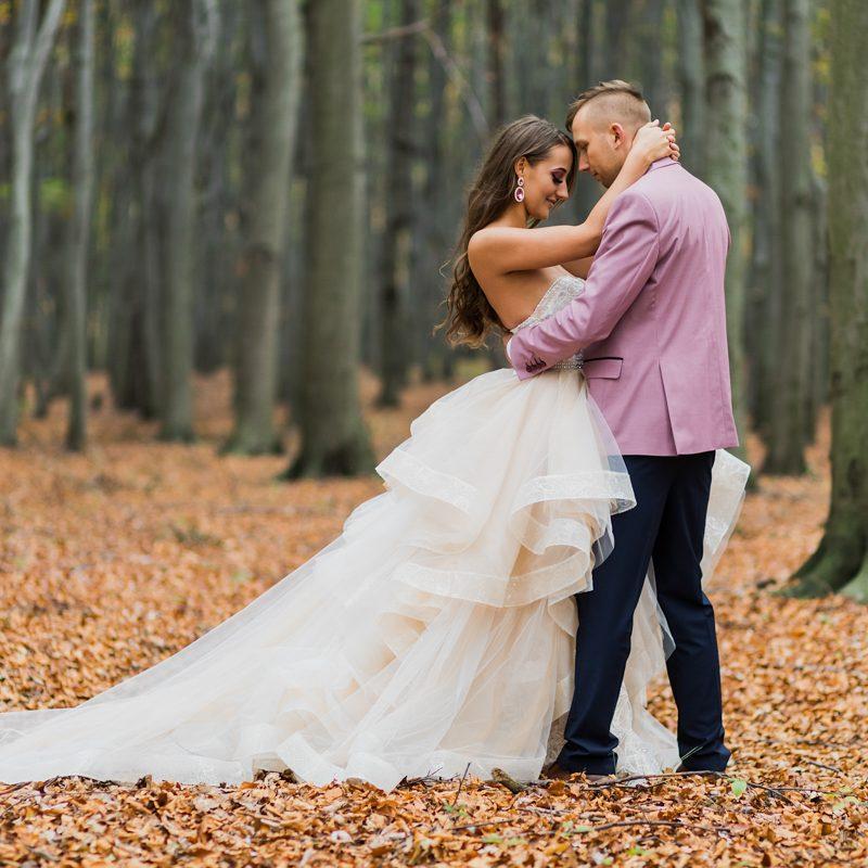 Ślub Karolowy Dwór w Wiśle / jesienny leśny plener